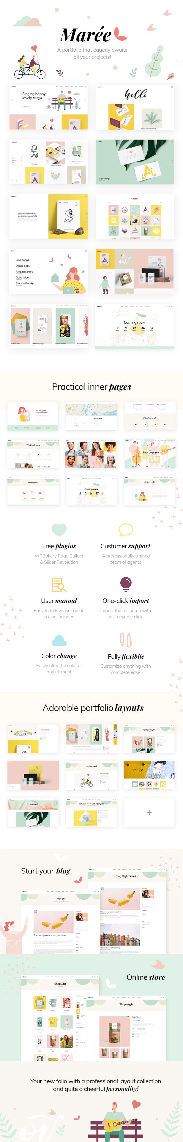 Marée - Illustration and Design Portfolio Theme - 1